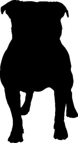 272x500 Staffordshire Bull Terrier Silhouette Car Decal Sticker Ebay