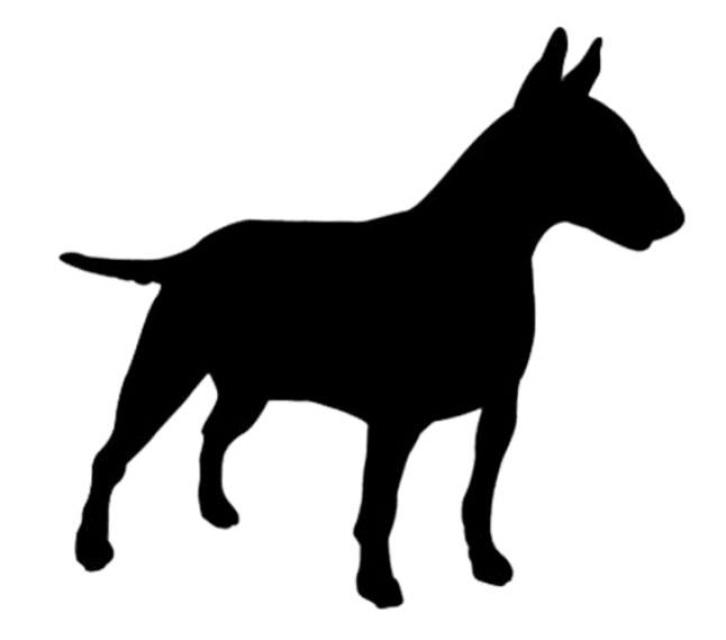 726x640 Bull Terrier Silhouette Car Sticker