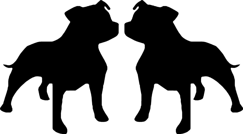 1500x825 Staffy Staffordshire Bull Terrier Dog Car Van Window Bike Stickers