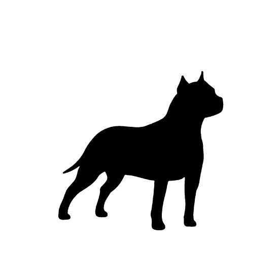 550x550 American Staffordshire Terrier Silhouette American Staffordshire