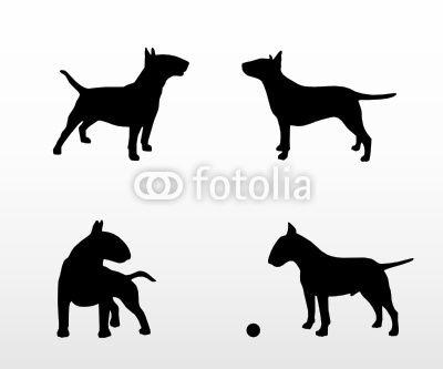 400x333 Bull Terrier Silhouette Art For Me Bull Terriers
