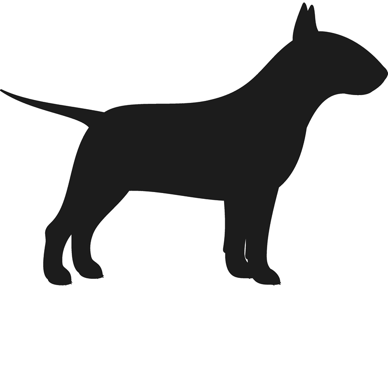 800x800 Bull Terrier Rubber Stamp (Silhouette) Dog, Cat Amp Fur Baby