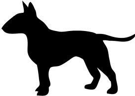 273x195 Bull Terrier Silhouette Clipart