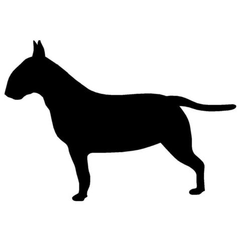480x480 Bull Terrier Silhouette Full Body Side View Sticker (4.5 X 3.1
