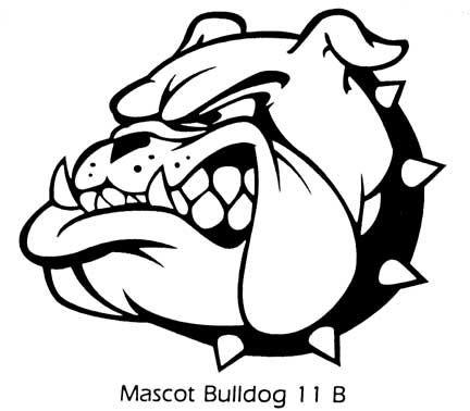 Bulldog Face Silhouette
