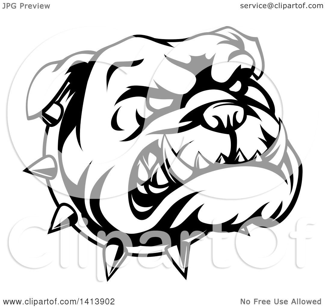 Bulldog Face Silhouette At Getdrawingscom Free For Personal Use