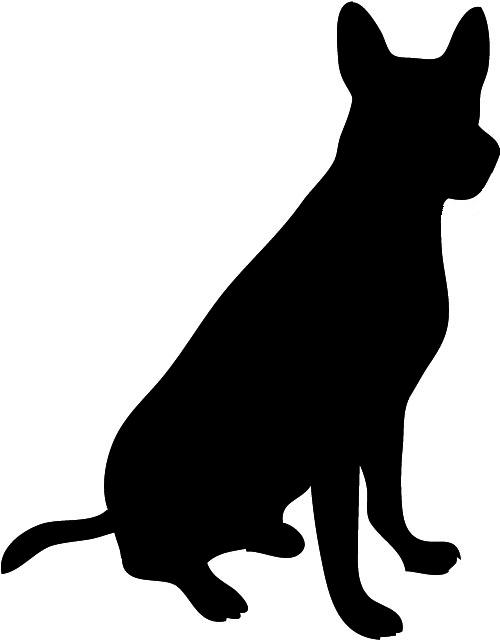 500x642 Dog Head Silhouette