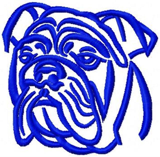 640x627 English Bulldog Outline