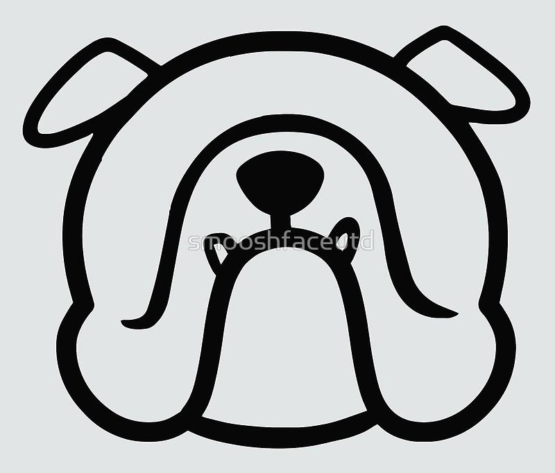 800x682 English Bulldog Face Silhouette