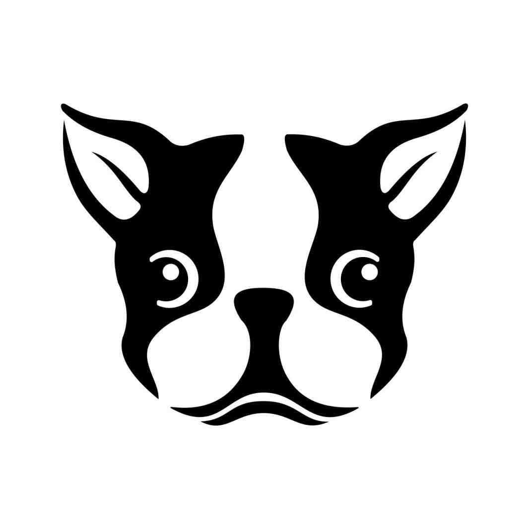 1066x1066 French Bulldog Face Silhouette Animalsee.club