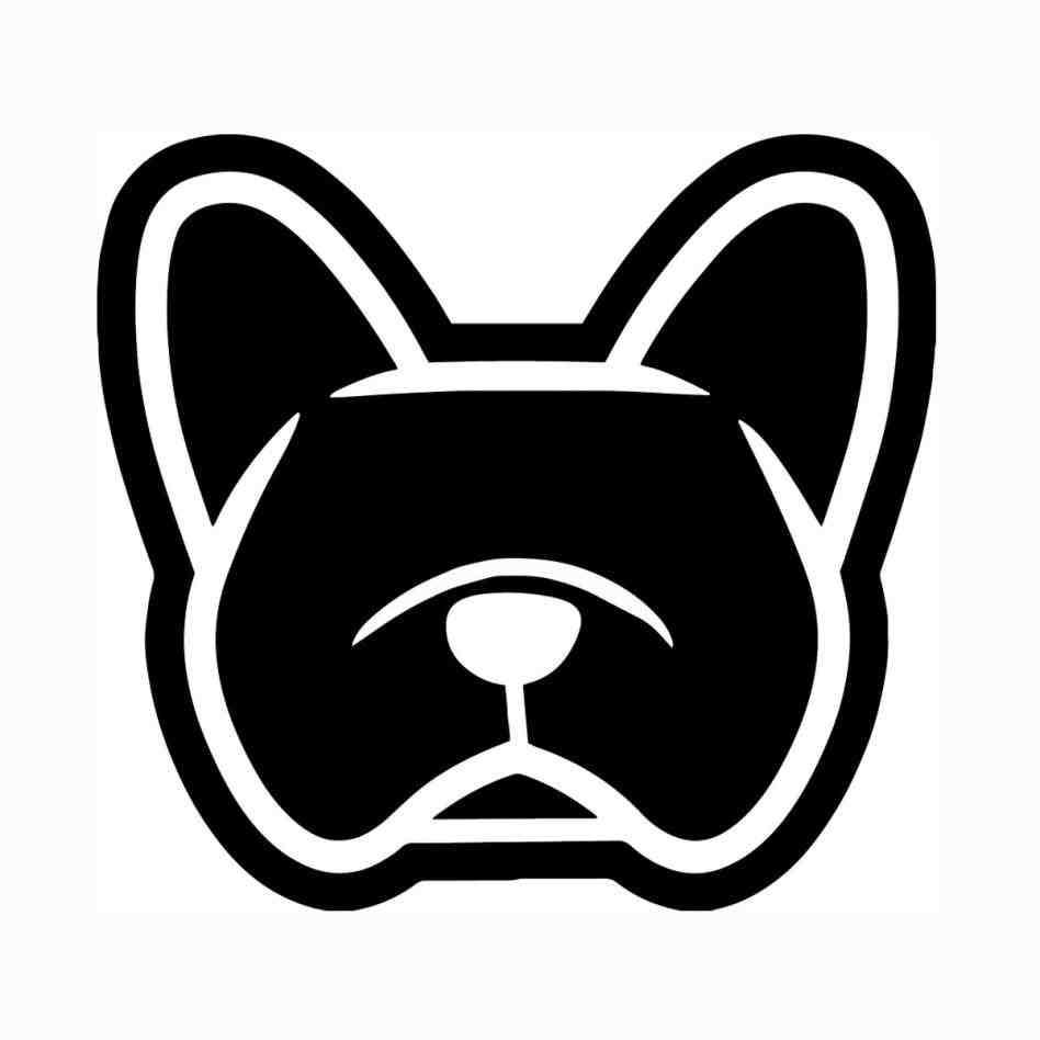 948x948 Love French Bulldog Face Silhouette French Bulldog Svg Dog File