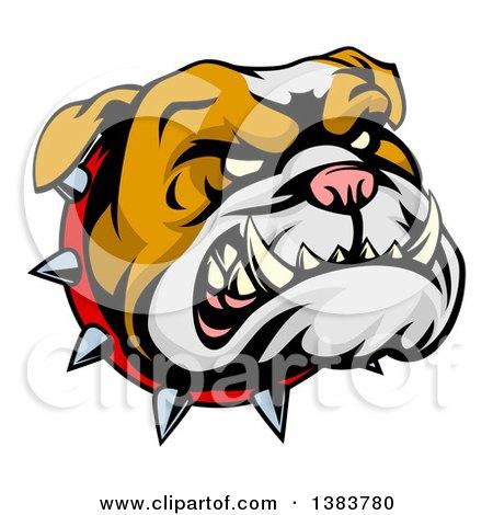 450x470 Royalty Free (Rf) Clipart Illustration Of A Menacing Gray Bulldog