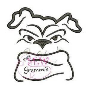 298x300 Swirly Mississippi State Bulldog Embroidery