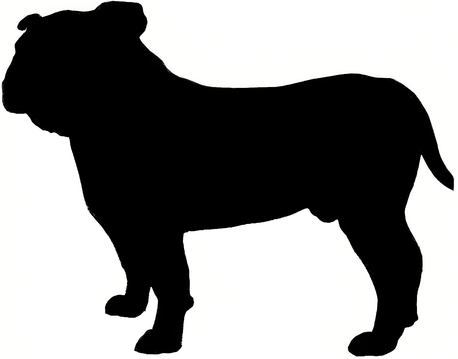 1540x1209 English Bulldog Silhouette Craft Projects To Do!!!!