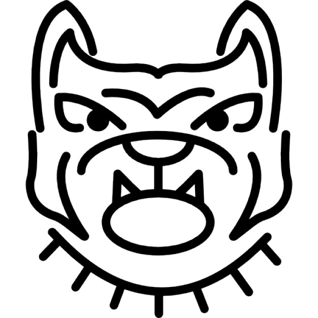 626x626 Angry Bulldog Face Outline Icons Free Download