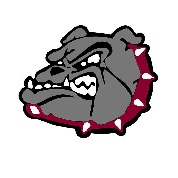 570x570 Bulldog Mascot Silhouette Cut Files