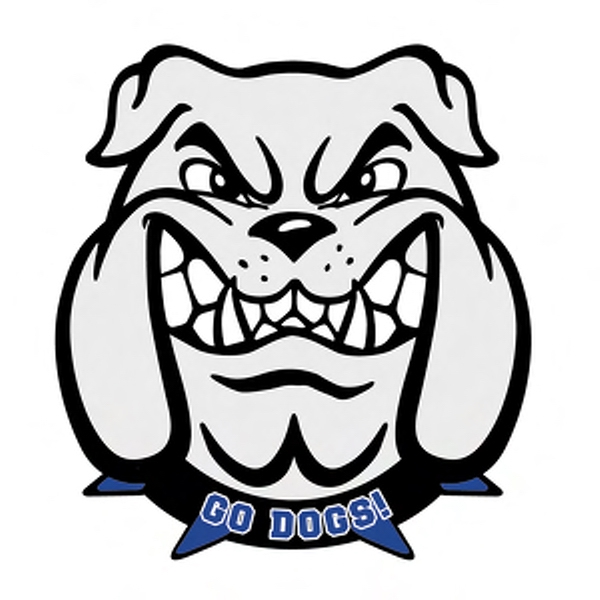 600x600 Bulldog Mascot Badge From Bulldogs