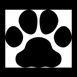 263x262 Bulldog Paw Print Silhouette Invitaciones