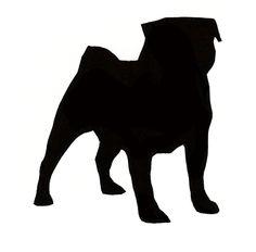 236x232 Dog Head Silhouette