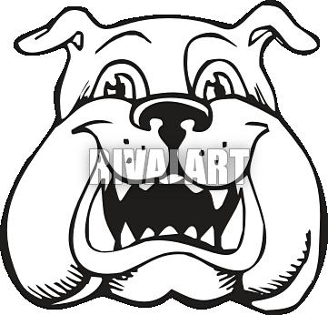 361x346 English Bulldog Clipart Bulldog Head