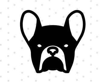 340x270 French Bulldog Clipart Head