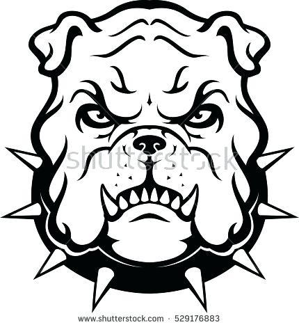 430x470 Bulldog Head Clipart Black And White