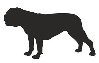 320x205 Bulldog Silhouette Decal Sticker