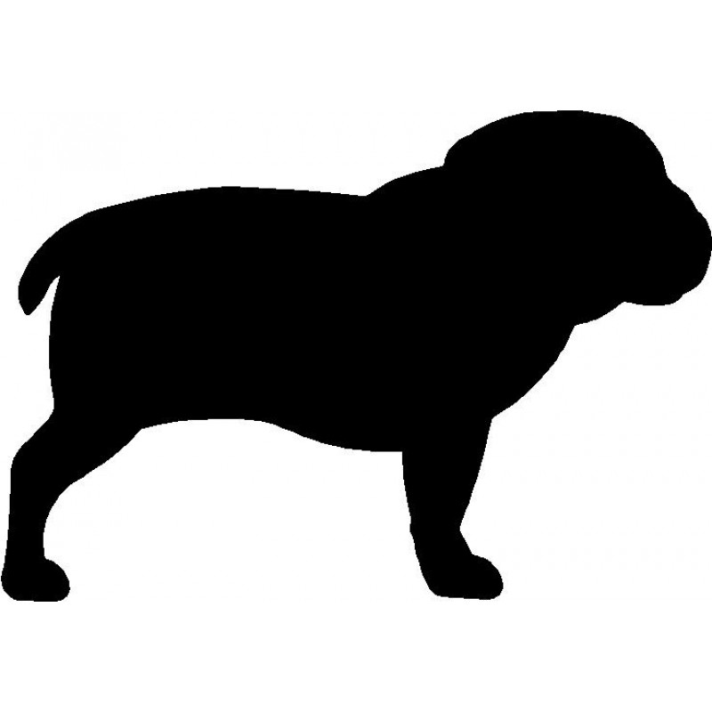 800x800 Dog Breed Silhouette Wall Hanging Magnetic Memo Bulldog