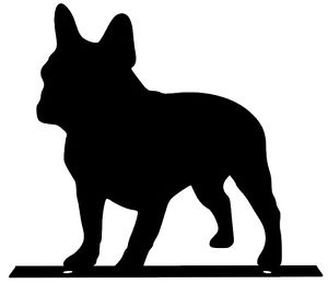 300x260 French Bulldog Silhouette Mailbox Topper Sign