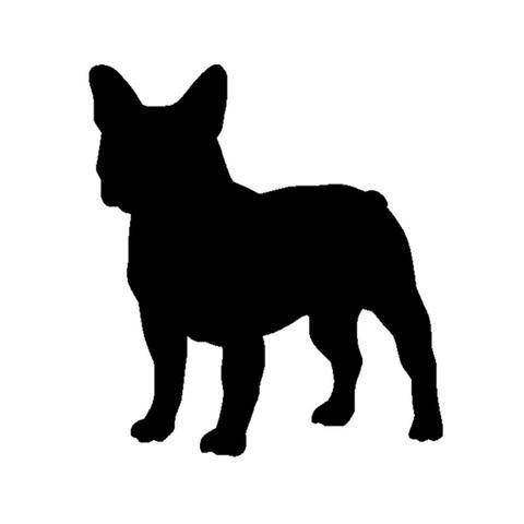 480x480 French Bulldog Silhouette Outline (3.9 X 4.3) Barking Bullies