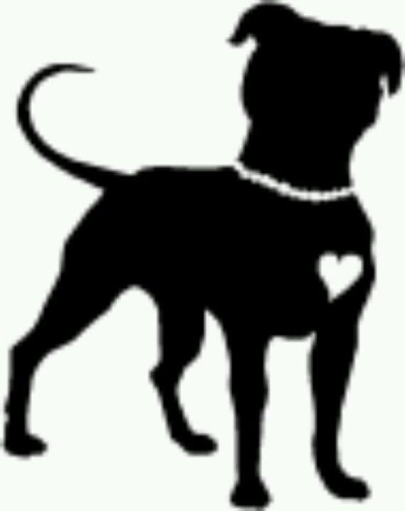 570x720 Pitbull Clipart Silhouette
