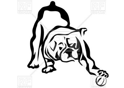 400x283 Silhouette Of Bulldog Royalty Free Vector Clip Art Image