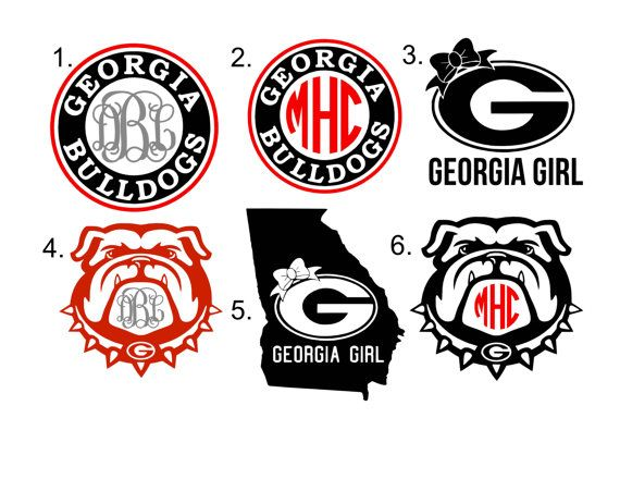 570x440 Georgia Bulldog Monogram Georgia Bulldogs, Monograms