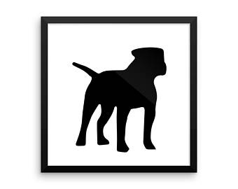 340x270 Bulldog Silhouette Etsy