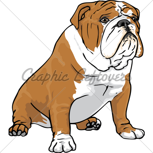 500x500 English Bulldog Clipart Silhouette 3507559