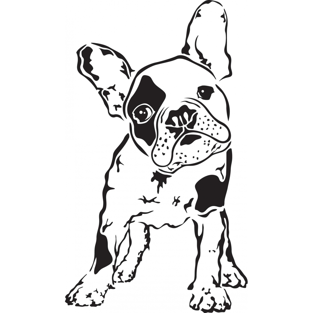 1200x1200 French Bulldog Clipart Silhouette 3549430
