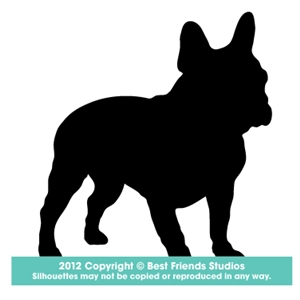 300x300 French Bulldog Silhouette Gifts, Stationery, Address Labels Amp Note