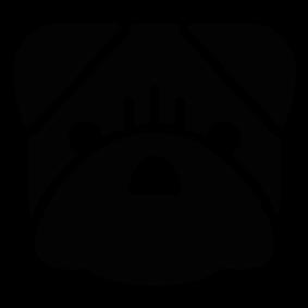 283x283 Bulldog Head Silhouette Silhouette Of Bulldog Head