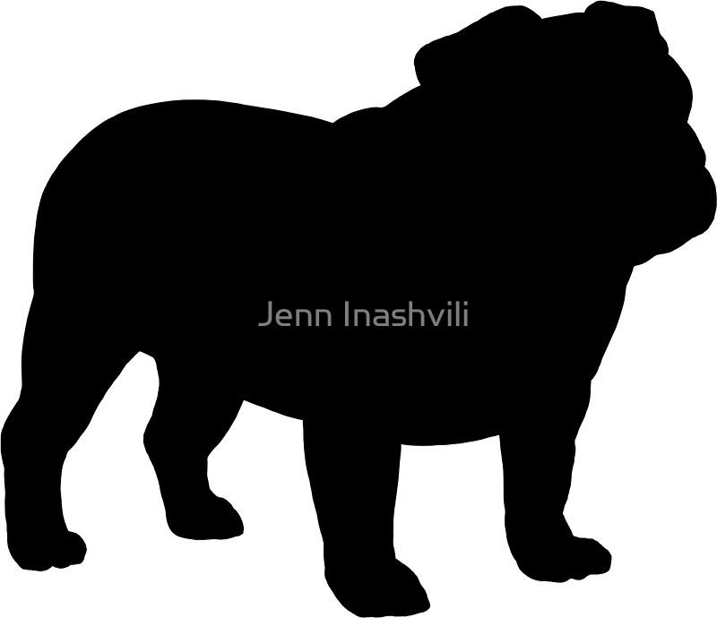 800x690 Bulldog Silhouette(S) Stickers By Jenn Inashvili Redbubble