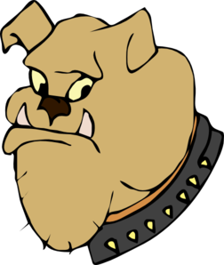 252x298 Cartoon Bulldog Head Clip Art