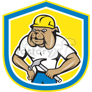 300x300 Royalty Free Bulldog Construction Worker Logo 391429 Vector Clip