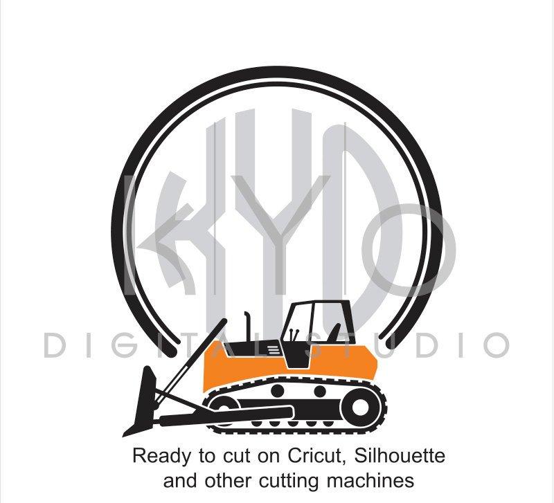 800x727 Construction And Transportation Svg Cut File, Bulldozer Svg
