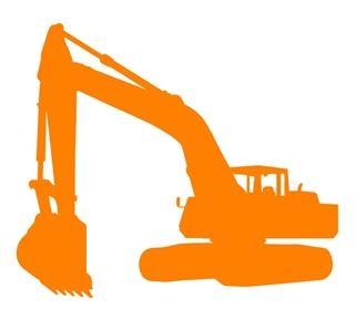 320x289 Excavator Silhouette 1 Decal Sticker