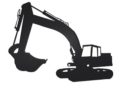 400x287 Excavator Silhouette Embroidery Designs, Machine Embroidery