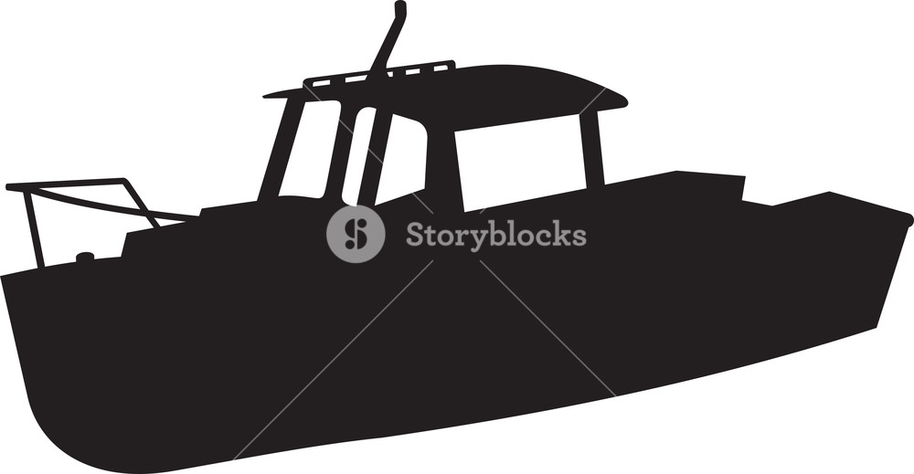 1000x519 Fishing Boat Silhouette Royalty Free Stock Image
