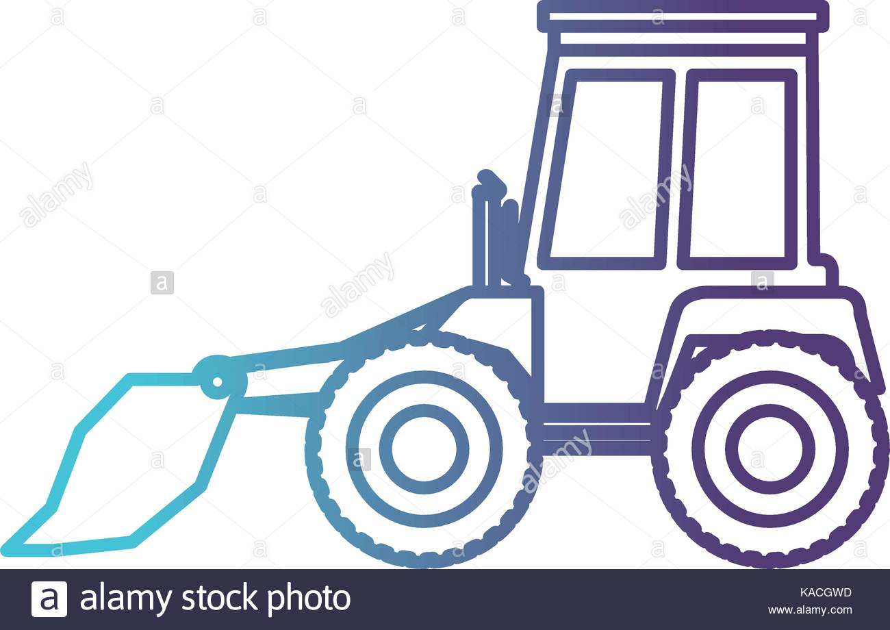 1300x920 Bulldozer Flat Ico Gradient Color Silhouette From Blue To Purple