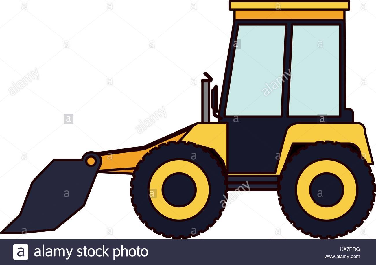 1300x916 Bulldozer Flat Icon Colorful Silhouette Stock Vector Art