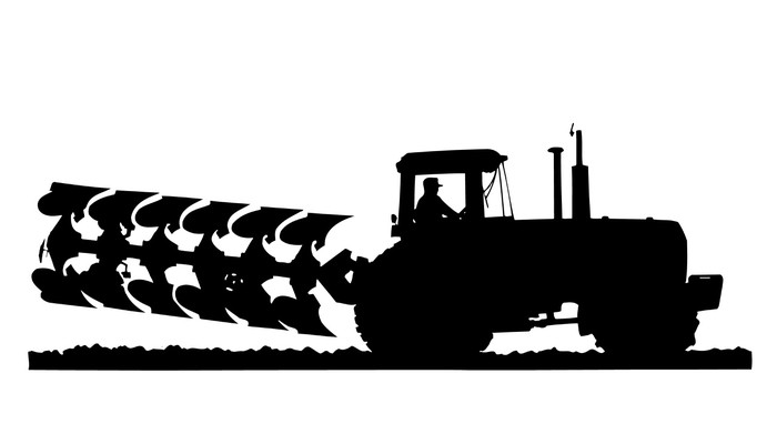 700x400 Tractor Amp Plow Silhouette Wall Mural We Live To Change