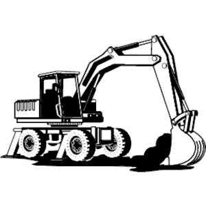 300x300 Bulldozer 07 Clipart, Cliparts Of Bulldozer 07 Free Download (Wmf