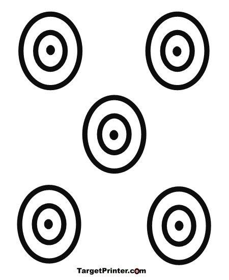 450x550 Printable Target Small 5 Bullseye Gun Shooting Range Targets